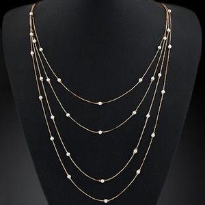 🛍SALE🛍 Multi Layer Gold & Mini Pearl Necklace